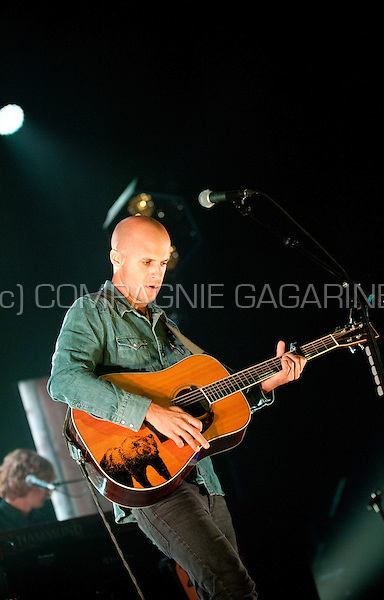 Concert of the Belgian singer-songwriter Milow at the Crammerock festival, in Stekene (Belgium, 06/09/2014)