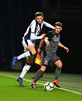 Lincoln City U18's Charlie West battles with  West Bromwich Albion U18's Taylor Gardner-Hickman<br /> <br /> Photographer Andrew Vaughan/CameraSport<br /> <br /> FA Youth Cup Round Three - West Bromwich Albion U18 v Lincoln City U18 - Tuesday 11th December 2018 - The Hawthorns - West Bromwich<br />  <br /> World Copyright &copy; 2018 CameraSport. All rights reserved. 43 Linden Ave. Countesthorpe. Leicester. England. LE8 5PG - Tel: +44 (0) 116 277 4147 - admin@camerasport.com - www.camerasport.com