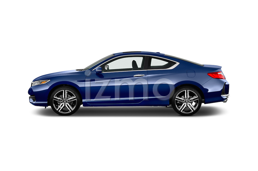 Car Driver side profile view of a 2016 Honda Accord Touring 2 Door Coupe Side View