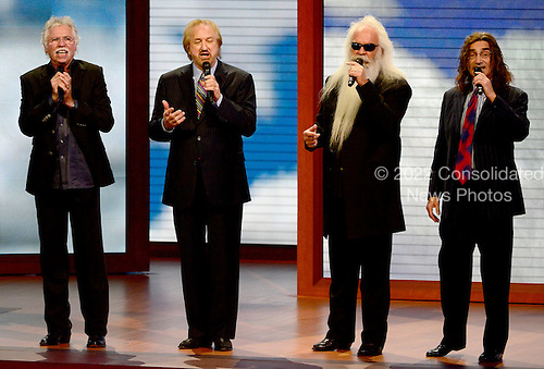 """Oak Ridge Boys sing """"Amazing Grace"""" at the 2012 Republican National Convention in Tampa Bay, Florida on Tuesday, August 28, 2012.  .Credit: Ron Sachs / CNP.(RESTRICTION: NO New York or New Jersey Newspapers or newspapers within a 75 mile radius of New York City)"""