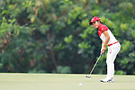 Ayaka Furue (JPN), <br /> AUGUST 23, 2018 - Golf : <br /> Women's Individual Round 1 <br /> at Pondok Indah Golf & Country Club <br /> during the 2018 Jakarta Palembang Asian Games <br /> in Jakarta, Indonesia. <br /> (Photo by Naoki Morita/AFLO SPORT)
