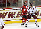 Brooke Fernandez (St. Lawrence - 10), Katelyn Kurth (BC - 14) - The visiting St. Lawrence University Saints defeated the Boston College Eagles 4-0 on Friday, January 15, 2010, at Conte Forum in Chestnut Hill, Massachusetts.