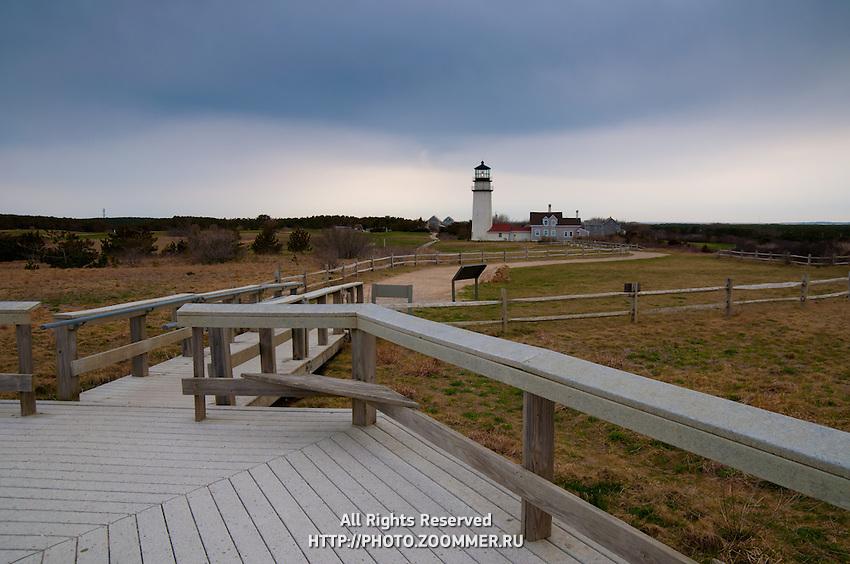 Boardwalk to Highland Light in Truro, Cape Cod