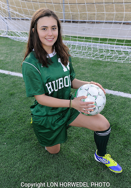 Huron High School girl's junior varsity soccer team.