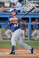 August 7 2008:  First baseman Adam Amar of the Auburn Doubledays, Class-A affiliate of the Toronto Blue Jays, during a game at Dwyer Stadium in Batavia, NY.  Photo by:  Mike Janes/Four Seam Images