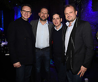 "LOS ANGELES - FEBRUARY 19: Peter Rice, Nick Grad, Eric Schrier and Brad Simpson at the party for FX's ""Atlanta Robbin' Season"" at the Clifton Cafeteria on February 19, 2018 in Los Angeles, California.(Photo by Frank Micelotta/FX/PictureGroup)"