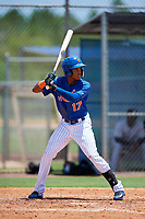 GCL Mets left fielder Wilmer Reyes (17) at bat during a game against the GCL Marlins on August 3, 2018 at St. Lucie Sports Complex in Port St. Lucie, Florida.  GCL Mets defeated GCL Marlins 3-2.  (Mike Janes/Four Seam Images)
