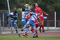 Josh Perry of Ilford goes close during Ilford vs Walthamstow, Essex Senior League Football at Cricklefields Stadium on 6th October 2018
