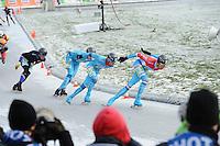 SCHAATSEN: NOORDLAREN: 18-01-2017, IJsvereniging De Hondsrug, de eerste marathon op natuurijs van 2017, Jorrit Bergsma (#13), ©foto Martin de Jong