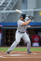 Nathan Mikolas (33) of the Pulaski Yankees at bat against the Danville Braves at Legion Field on August 7, 2015 in Danville, Virginia.  The Yankees defeated the Braves 3-2. (Brian Westerholt/Four Seam Images)