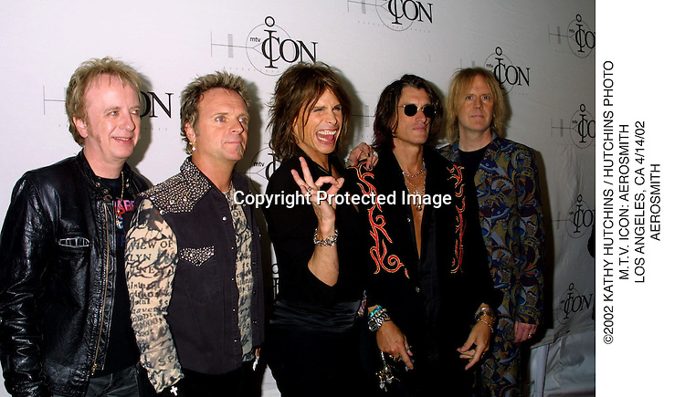 ©2002 KATHY HUTCHINS / HUTCHINS PHOTO.M.T.V. ICON: AEROSMITH.LOS ANGELES, CA 4/14/02.AEROSMITH