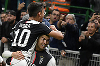 Cristiano Ronaldo of Juventus celebrates with Paulo Dybala after scoring the goal ofc 0-2 for his side, Goal afterwards canceled by the referee Gianluca Rocchi <br /> Milano 6-10-2019 Stadio Giuseppe Meazza <br /> Football Serie A 2019/2020 <br /> FC Internazionale - Juventus FC <br /> Photo Andrea Staccioli / Insidefoto
