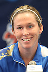 05 December 2013: UCLA's Jenna Richmond. The head coach and selected players from teams participating in the 2013 Women's College Cup spoke to the media at WakeMed Stadium in Cary, North Carolina.