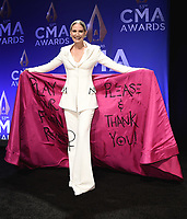 NASHVILLE, TN - NOVEMBER 13:  Jennifer Nettles in the press room at the 53rd Annual CMA Awards at the Bridgestone Arena on November 13, 2019 in Nashville, Tennessee. (Photo by Scott Kirkland/PictureGroup)