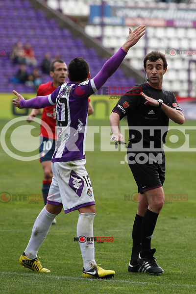 Perez Lasa referee during Real Valladolid V Osasuna match of La Liga 2012/13. 31/03/2013. Victor Blanco/Alterphotos /NortePhoto