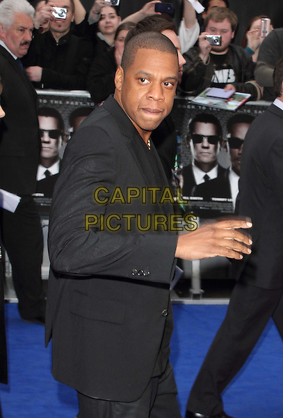 JAY Z (Shawn Corey Carter).The 'Men in Black 3' UK film premiere, Odeon Leicester Square cinema, Leicester Square, London, England..May 16th, 2012.MIB3 III half length black jacket side hand arm.CAP/ROS.©Steve Ross/Capital Pictures.