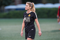 Allston, MA - Saturday Sept. 24, 2016: McCall Zerboni prior to a regular season National Women's Soccer League (NWSL) match between the Boston Breakers and the Western New York Flash at Jordan Field.