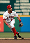 14 June 2006: Royce Clayton, shortstop for the Washington Nationals, in action against the Colorado Rockies in Washington, DC. The Rockies defeated the Nationals 14-8 in front of 24,273 fans at RFK Stadium...Mandatory Photo Credit: Ed Wolfstein Photo.