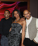 Mekhi Phifer and Condola Phifer and Ruben Santiago-Hudson (AMC & A/W) at the after party for the last performance on February 26, 2012 at 48 Lounge, New York City, New York.  (Photo by Sue Coflin/Max Photos)