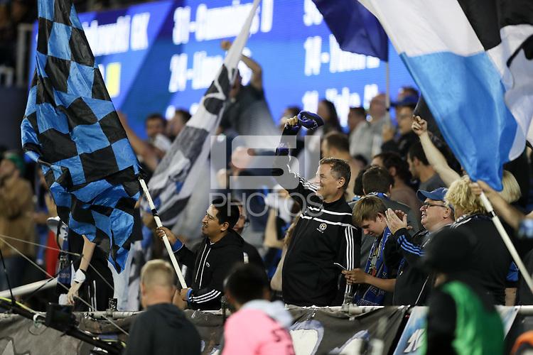 San Jose, CA - Wednesday September 19, 2018: Fans during a Major League Soccer (MLS) match between the San Jose Earthquakes and Atlanta United FC at Avaya Stadium.