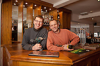 Steve Billings (left) and  Doug Stiller of Middlebeck Joinery with a custom bar they have just fitted
