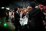 (Eng) Yokohama, March 6 2010 - At the Tokyo Girls Collection, models and TV stars are parading for fast-fashion brands in front of 20 000 teenagers. After the doors opening.<br /> <br /> (Fr)Yokohama, 6 mars 2010 - A la Tokyo Girl Collection, des mannequins et stars de la television defilent pour des marques grand-public devant 20 000 adolescentes. A l'ouverture des portes, c'est la cohue.