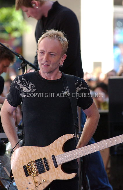 WWW.ACEPIXS.COM . . . . . ....NEW YORK, NEW YORK, MAY 27TH 2005....Def Leppard performs on the NBC 'Today Show' concert series.....Please byline: KRISTIN CALLAHAN - ACE PICTURES.. . . . . . ..Ace Pictures, Inc:  ..Craig Ashby (212) 243-8787..e-mail: picturedesk@acepixs.com..web: http://www.acepixs.com