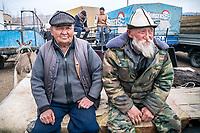 The Karakol animal market, Kyrgyzstan