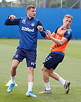 28.08.2019 Rangers training: Borna Barisic and Greg Stewart