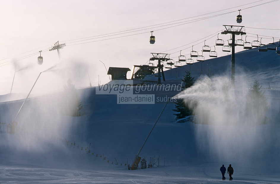 Europe/France/Rhône-Alpes/74/Haute-Savoie/Megève: Domaine skiable à Rochebrune