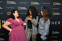 """WEST HOLLYWOOD - APRIL 22: Jenelle Riley, actress Angela Bassett and producer Janet Hon Vissering attend an FYC screening and Q&A for National Geographic's """"The Flood"""" at SilverScreen Theater on April 22, 2019 in West Hollywood, California. (Photo by Vince Bucci/National Geographic/PictureGroup)"""
