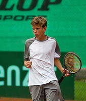August 8, 2014, Netherlands, Rotterdam, TV Victoria, Tennis, National Junior Championships, NJK,  Alec Deckers (NED)<br /> Photo: Tennisimages/Henk Koster