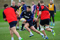 Adam Hastings of Bath Rugby in action. Bath Rugby training session on November 22, 2016 at Farleigh House in Bath, England. Photo by: Patrick Khachfe / Onside Images