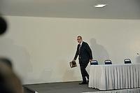 BRASILIA, DF – 21.06.2016 – CUNHA-COLETIVA – O deputado afastado, Eduardo Cunha durante coletiva de imprensa no Hotel Nacional, região central de Brasília, na manhã desta terça-feira, 21. (Foto: Ricardo Botelho/Brazil Photo Press)