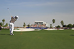 Rory McIlroy plays his 2nd shot on the 9th hole during  Day 3 at the Dubai World Championship Golf in Jumeirah, Earth Course, Golf Estates, Dubai  UAE, 21st November 2009 (Photo by Eoin Clarke/GOLFFILE)