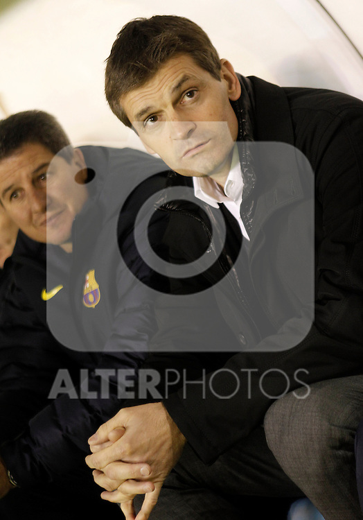 FC Barcelona's coach Tito Vilanova during Spanish King's Cup match.October 30,2012. (ALTERPHOTOS/Acero)