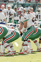 MIAMI, FL - DEC 19, 1999: Quarterback Dan Marino, #13, is shown on the field as the  Miami Dolphins defeat the San Diego Chargers 12-9 at Joe Robbie Stadium, in Miami, FL. (Photo by Brian Cleary/www.bcpix.com)