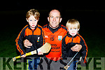 Mike Slattery, Ballyheigue B, who also played in the winning side in 1993 with his 2 sons Conor, Lt and Noah after winning the County Junior hurling championship last Friday night against Duagh in Abbeydorney.