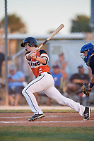 Henry Jackson during the WWBA World Championship at the Roger Dean Complex on October 20, 2018 in Jupiter, Florida.  Henry Jackson is an outfielder from Waxhaw, North Carolina who attends Marvin Ridge High School and is committed to Carson-Newman College.  (Mike Janes/Four Seam Images)