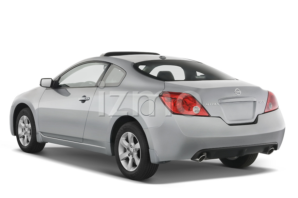 Rear three quarter view of 2008 Nissan Altma Coupe Stock Photo