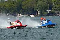 Jim Robb, Sr., (#47) and Mike Klepadlo, (#35)<br /> <br /> Trenton Roar On The River<br /> Trenton, Michigan USA<br /> 17-19 July, 2015<br /> <br /> ©2015, Sam Chambers