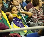 11.01.2019, Mercedes Benz Arena, Berlin, GER, BRA vs. FRA, im Bild <br /> Brasilianische Fans<br /> <br />      <br /> Foto &copy; nordphoto / Engler
