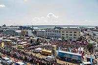 Huge crowds at the race start in Brest. <br /> <br /> Stage 6: Brest > Mûr de Bretagne / Guerlédan (181km)<br /> <br /> 105th Tour de France 2018<br /> ©kramon