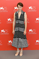 VENICE, ITALY - AUGUST 29: English actress Claire Foy attends the photocall for First Man during the 75th Venice Film Festival at Sala Grande on August 29, 2018 in Venice, Italy.<br /> CAP/BEL<br /> &copy;BEL/Capital Pictures
