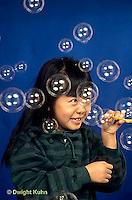 BH01-004z  Bubbles - girl making bubbles