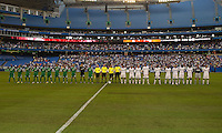 03 August 2010 The opening ceremonies during an international friendly  between Inter Milan FC and Panathinaikos FC at the Rogers Centre in Toronto..