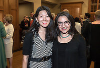 Professors Jane Hong and Alexandra Puerto. The Occidental College History Department hosts a dinner for the Ray Allen Billington Visiting Professorship in United States History, which Oxy co-founded with the Huntington Library, November 17, 2014 in Dumke Commons, Swan Hall. (Photo by Marc Campos, Occidental College Photographer)