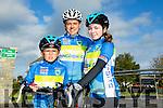 l-r Eoin Hillard, Lee Hillard and Faith Hillard at the Ardfert Harvest Cycle on Saturday