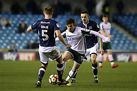 Stevie Mallan of Barnsley takes on Millwalll's Tony Craig during Millwall vs Barnsley, Emirates FA Cup Football at The Den on 6th January 2018