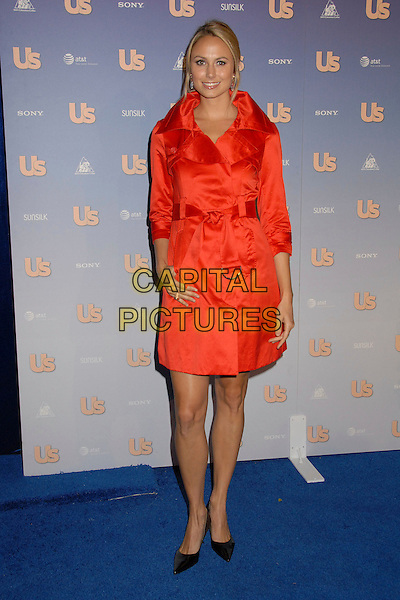 STACEY KEIBLER.US Weekly's Hot Hollywood 2007 at Opera, Hollywood, California, USA..September 26th, 2007.full length red trench coat mac jacket coat satin black pointy shoes .CAP/ADM/BP.©Byron Purvis/AdMedia/Capital Pictures.